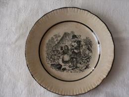 """Petite Assiette """"parlante"""" Decorative Faience,doit Etre Faiencerie St Clement - Céramiques"""