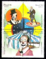 636  Cirque - Bresil Yv 2392-95 - MNH - 1,50  A4 - Cirque