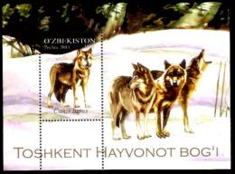 21161  Wolves - Loups - Uzbekistan - MNH - 2,50  A4 - Autres