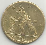 Bersaglieri 100° Presa Di Roma 1970, Facsimile Moneta Oro Ras Al Khaima, Mist. Gr. 10, Cm. 3,2. - Italia