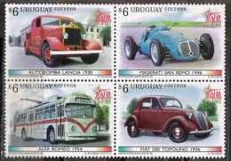 2607  Pump Car - Uruguay Yv 1762-65  MNH - 3,50 (10) - Sapeurs-Pompiers