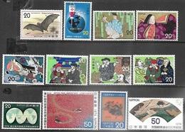Japan   1974   Sc#1173-82, 1184-5  MNH   2016 Scott Value $5.60 - 1926-89 Emperor Hirohito (Showa Era)