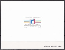 France Sc2163 Arche De La Defense, Summit Of The Arch Meeting, Deluxe Proof, Epreuve - Architecture