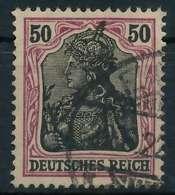 DEUTSCHES REICH 1900 18 GERMANIA Nr 91IIx Gestempelt Gep X89908E - Deutschland