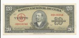 Cuba 20 Pesos 1958 Almost UNC Or More - Cuba