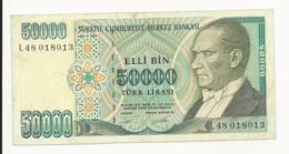 Turkey 50000 Lira EF - Turkey