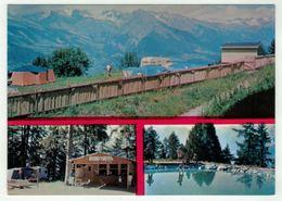 Suisse // Schweiz // Valais // Haute-Nendaz, Le Camping Avec Le Kiosque Et La Piscine - VS Valais