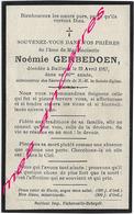 En 1917-Bailleul- Noémie GERBEDOEN 80 Ans - Décès