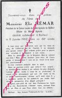 En 1962-Bailleul (59)  Elie HEMAR-président Caisse Locale Crédit Agricole 66 Ans - Décès