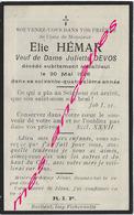 En 1926-Bailleul (59)  Elie HEMAR- Ep Juliette DEVOS 74 Ans - Décès
