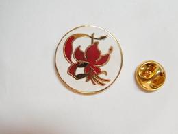 Superbe Pin's En EGF  , Fleur , Nature , Signé Pin' Story - Badges
