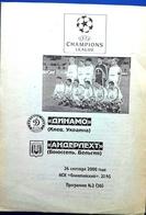 Football Program -   F.C.  DINAMO  Kiev V.  R.S.C.  ANDERLECHT , EURO-CUP,  2000. - Books