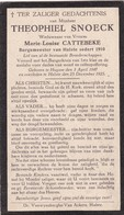 Burgemeester, Theophiel Snoeck, Cattebeke, Hulste, Huise, Huysse, 1925 - Images Religieuses