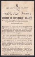 Ramskapelle; Ramscappelle, Oostende, 1920, Hendrik Keteleers, Roseeuw - Devotieprenten