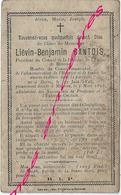 En 1898-Borre Et Méteren  (59) Conseiller Municipal Et Président Fabrique- Liévin GANTOIS - Décès