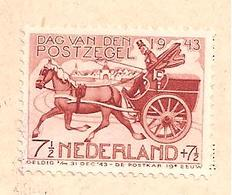 422P3 Open Lantaarn. Souvenir Velletje Dag Van De Postzegel Amsterdam 9.10.1943 - Abarten Und Kuriositäten