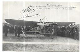 """Toulouse-Aviation Voyage Pau-Toulouse L' Aviateur Morin Atterrit Sur Le """" Polygone """" - Toulouse"""