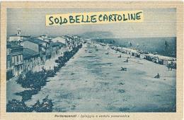 Marche-macerata-porto Recanati Spiaggia E Veduta Panoramica Portorecanati Anni 40 (f.picc./v.retro) - Italia