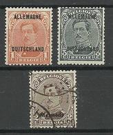 Deutsches Reich Belgische Militärpost In Rheinland 1919/21, 3 Stamps, */o - [OC55/105] Eupen/Malmedy