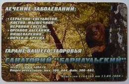 RUSSIA / USSR - Chip - Barnaul -  Altai Region - 60u - Sanatorium Barnaulskiy - Bear - 2nd Printing - Exp01/08/02 - Used - Russia