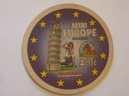 """Sottobicchiere """"MINI EUROPE BRUSSELS - LEFFE"""" - Sotto-boccale"""