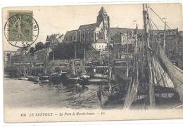 108. LE TREPORT . LE PORT A MAREE BASSE . AFFR SUR RECTO LE 21-8-1920 - Le Treport