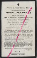 Maire De Borre (59) En 1915-Henri  DELBECQ Ep Marie BARISEEL - Décès