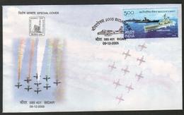 India 2005 Aircrafts  9 - AC Formation Aerobatic Team  Bidar Special Cover # 19137  D Inde  Indien - India