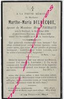 En 1918-Bailleul (59) Et Proven (B) Marthe DELBECQUE Ep Henri Thibaut - Décès