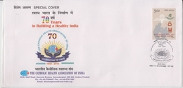 India 2013  The Catholic Healt05 Association Of India  Secunderabad Special Cover # 19049  D Inde  Indien - India