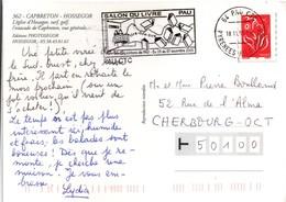 Pau 2005 - Flamme Salon Du Livre - Lire - Château - Marcophilie (Lettres)