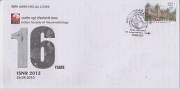 India 2013  Indian Society Of Neroradiology  D.R. College  Special Cover # 19044  D Inde  Indien - India