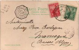 Buenos Ayres à Bordeaux LJ N°4 Aux 1 1904 - Octogonal Poste Maritime Paquebot Sur Carte Argentine Argentina - Marcophilie (Lettres)