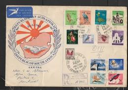 S.Africa, 1961,  New Definitive Set 1/2c - R1, PRETORIA 31.V.61, Registered > KENHARDT - FDC