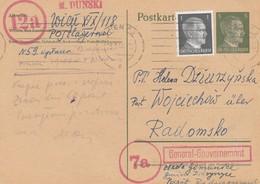 GG: Ganzsache DR, 9.44 Nach Radomsko Mit PLZ Stempel Aus Wien - Besetzungen 1938-45