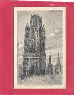 14. ROUEN . SOMMET DE LA TOUR DE BEURRE . Dessin Signe F. TUBOIS . AFFR LE 26-5-1929 AU VERSO . 2 SCANES - Rouen