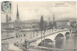 NORMANDIE .416. ROUEN . PONT CORNEILLE . CARTE AFFR SUR RECTO - Rouen