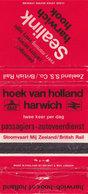 Sealink Ferries Ferry Harwich Hook Book Of Matches Matchbox Label - Matchbox Labels
