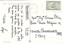 CARTOLINA  X ITALY HAMMERFEST   OSLO 1966 - Inverno