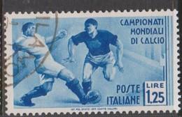 Italy S 360 1934 2nd World Soccer Championship,lire 1,25,blue, Used - 1900-44 Vittorio Emanuele III