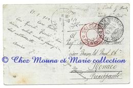 WWI - CACHET BOLOGNA POSTA ESTERA EN ROUGE - 8 EME DIVISIONE - POUR BIANCHERI PAUL MAISON BARON MONACO - CPA MILITAIRE - War 1914-18