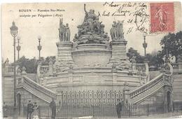 ROUEN . FONTAINE Ste-MARIE SCULTEE PAR FALGUIERES . AFFR SUR RECTO LE 21-4-1907 - Rouen