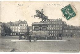 ROUEN . STATUE DE NAPOLEON 1er . AFFR SUR RECTO - Rouen