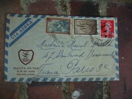 Hotel Crillon Santa Fe Argentine  Enveloppe Commerciale - 1900 – 1949