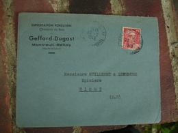 Montreuil Bellay Geffard Dugast Charbon Bois Exploitation Forestiere  Enveloppe Commerciale - 1900 – 1949