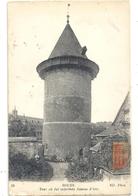 85. ROUEN . TOUR OU FUT ENFERMEE JEANNE D'ARC . TIMBRE ABIME SUR RECTO - Rouen