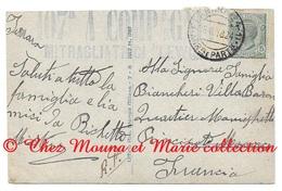 WWI - TAMPON 107 EME A COMPAGNIE MITRAGLIATRICI - BIANCHERI VILLA BARON MONACO - CPA MILITAIRE - Guerre 1914-18