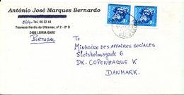 Portugal Cover Sent To Denmark Leiria 7-1-1993 - 1910-... República