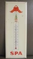 Rare Thermomètre Publicitaire En Tôle SPA Monopole Rouge - Etablissement Schuybroek Hoboken-Anvers - Plaque - Autres