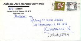 Portugal Cover Sent To Denmark Leiria 27-7-1993 - Covers & Documents
